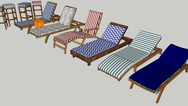 Free Outdoor furniture Vray Materials for Sketchup and Rhino
