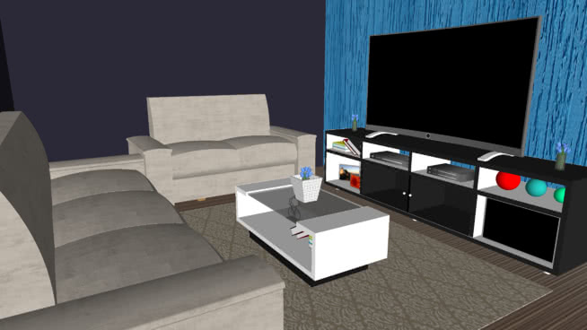 Free Living Room Vray Materials for Sketchup and Rhino